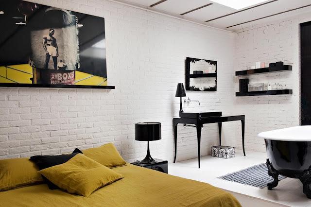 D coration loft atelier bastille paperblog - Parete a mattoncini ...