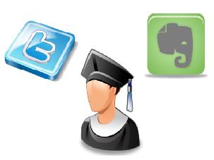 Apprendre avec twitter et evernote <h2 alt=