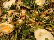 Salade pissenlit avec oeufs