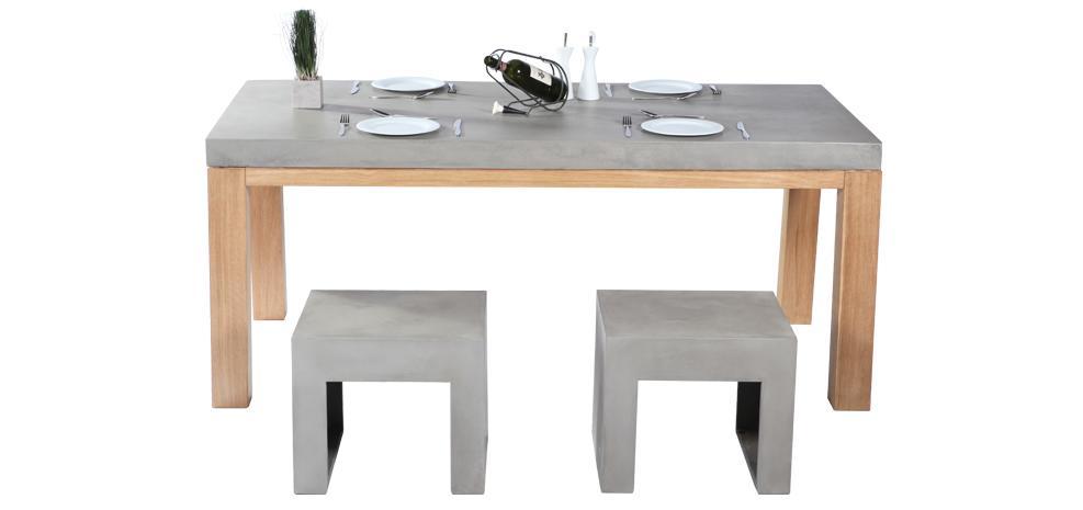 D co tendance en b ton paperblog for Table cuisine en bois nancy