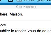 Notepad: alertes géolocalisées Google Chrome
