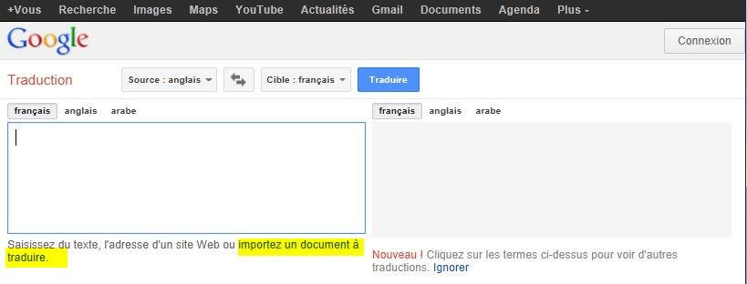 google traduction traduire un document complet a decouvrir With documents google translate