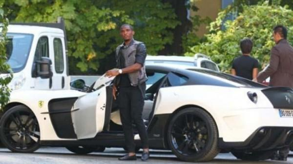 Samuel Eto'o & his wife Georgette show off their Multi-Million Dollar Bugatti Veyron