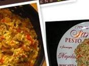 Risotto saucisses, poivrons rouges champignons parfumé persil