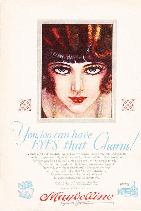 Ann es 1920 le maquillage des yeux lire - Maquillage annee 30 ...
