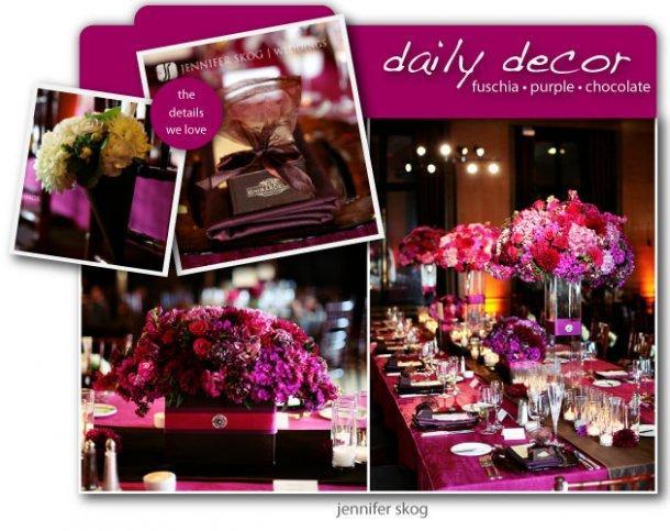 Decoration de mariage rose fushia et noir d couvrir for Deco table rose et noir