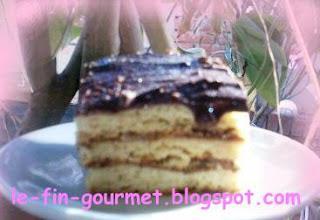 Gateau miel et chocolat