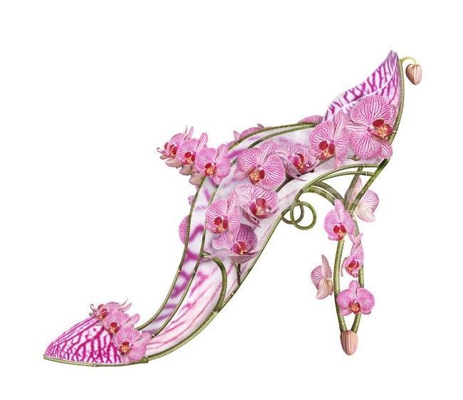 1e11deceb15900 michel tcherevkoff: quand les chaussures sont des fleurs!   À