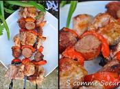 Brochettes filet mignon saucisse Montbéliard