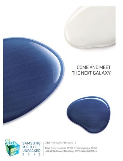 invite thumb 413x540 La Samsung Galaxy S3 annoncé le 3 mai !