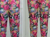 Avant-après: pantalon fleurs