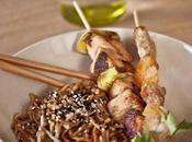 Brochettes Yakitori poulet-poireau poulet-pamplemousse