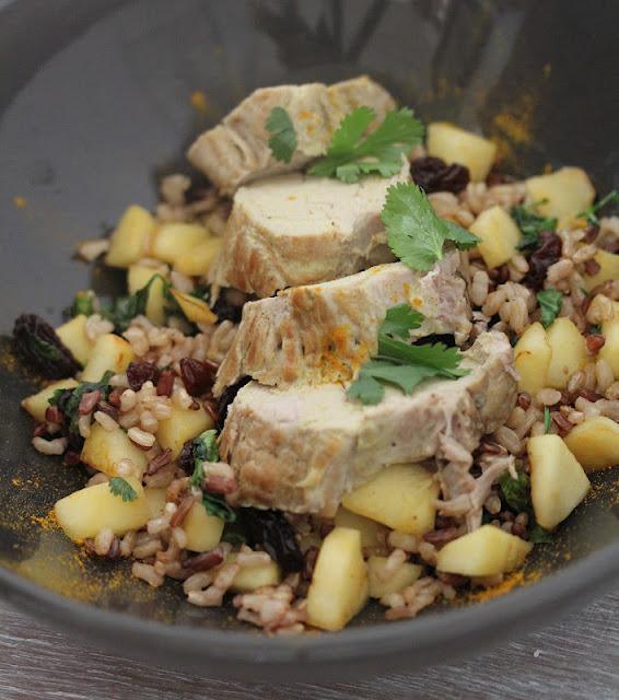 Filet mignon de porc au curry riz saut aux pommes et - Cuisiner un filet mignon de porc en cocotte ...