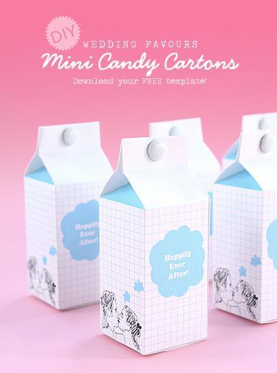 Free Wedding Gift Box Templates : Boites a bonbon ou briques de lait a realiser soi m?me ? Voir