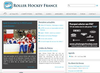 Web : RollerHockeyFrance fait peau neuve