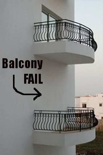 Balcony Fail