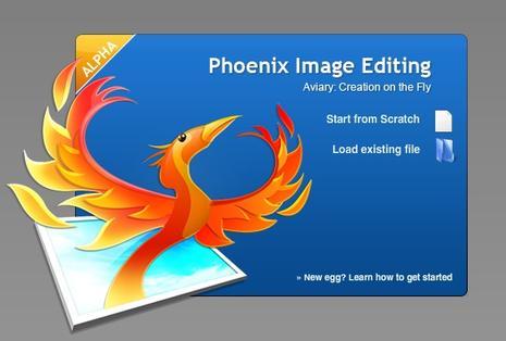 Accueil du logiciel Aviary Phoenix