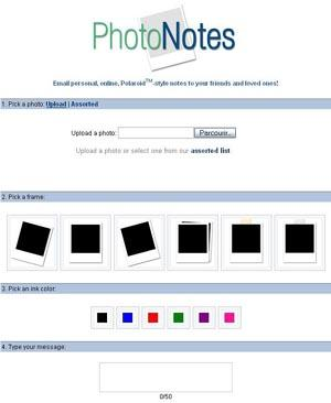 Photo Notes - Envoi de photo-mail