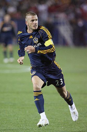 David Beckham torride à une partie du Galaxy de Los Angeles