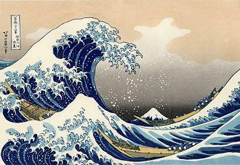 La grande vague au large de Kanagawa d'Hokusai