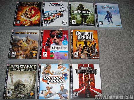 Collection Jeux PS3 - Mars 2008