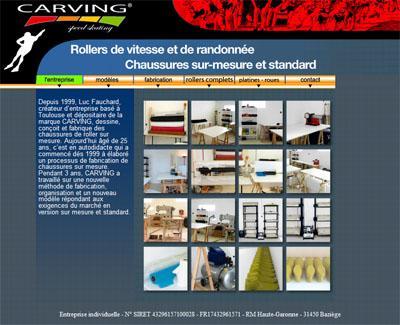Web : nouveau site de Carving