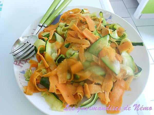 Tagliatelles de courgettes et carottes paperblog for Blanchir legumes pour congeler