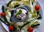salade estivale tagliatelles courgettes rillettes surimis