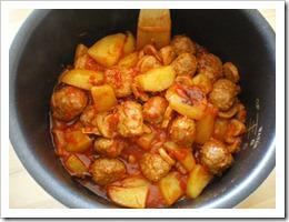 Goulash aux boulettes de viande cuisin au d licook paperblog - Portion de viande par personne ...
