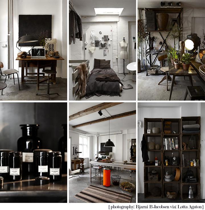 Un petit bureau industriel en noir et blanc paperblog - Deco bureau industriel ...