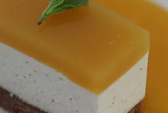 Cheesecake sans cuisson au brillat savarin fruit de la passion et mangue une recette du - Cheesecake fruit de la passion ...