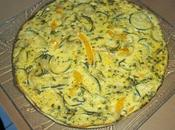 Omelette four frittata courgette
