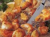 Brochettes mixtes crustacés
