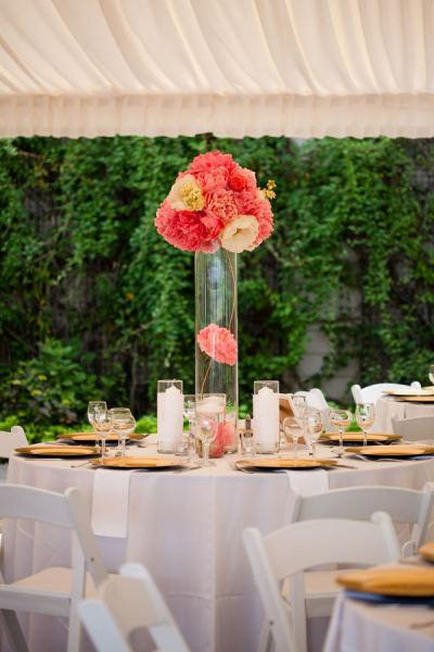 decoration de mariage corail  À Découvrir