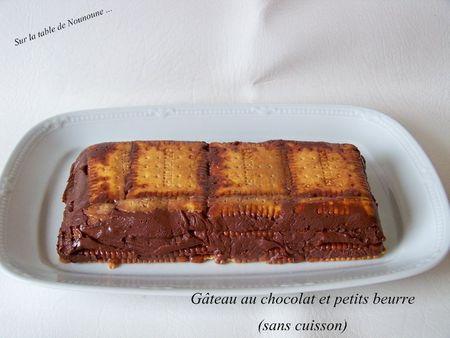 G teau au chocolat et petits beurre sans cuisson paperblog - Gateau chocolat sans cuisson ...