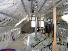 Etanch it l air des combles mise en place de la membrane frein vapeur vario paperblog - Membrane vario duplex ...