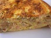 Cake polenta parmesan bacon champignons Paris