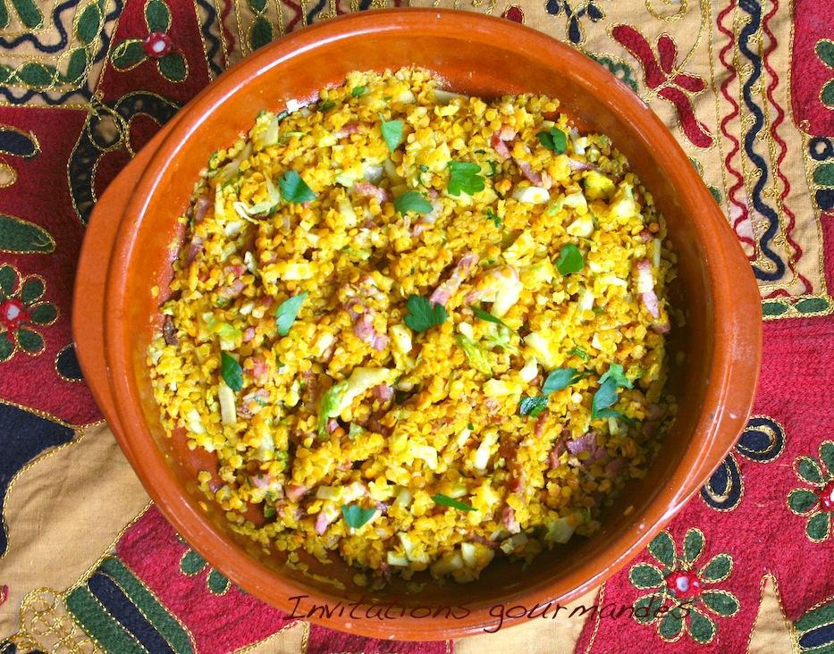 salade de lentilles corail aux lardons 192 d 233 couvrir