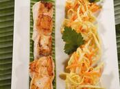 Brochette saumon, légumes rougail tomate lait coco {recette inside}
