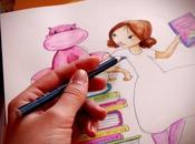 illustration l'aquarelle thème livres