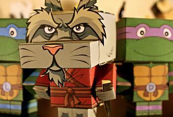 Papertoys tortues ninja x 5 paperblog - Maitre rat tortue ninja ...