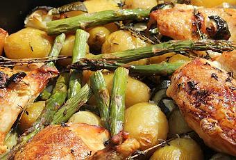 Un plat bien convivial poulet roti au vin blanc pommes for Plat simple et convivial
