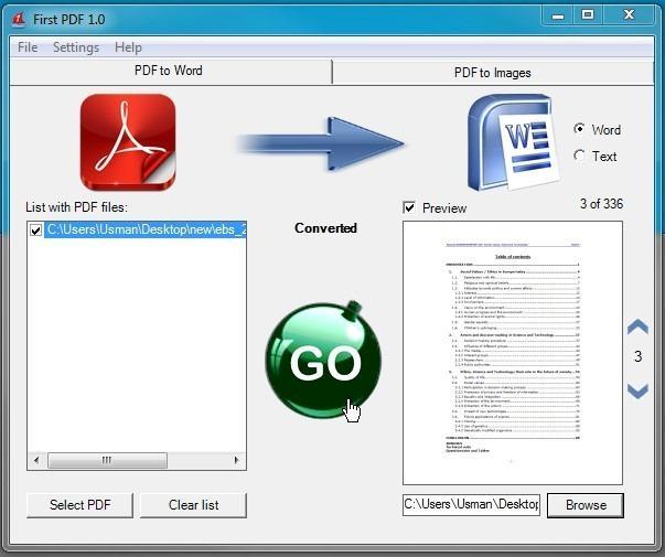 Convertir les fichiers pdf en fichier word texte ou image - Convertir fichier pdf en open office ...