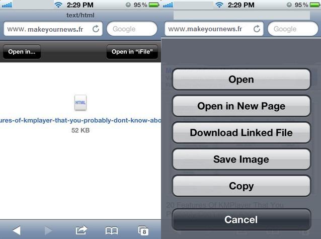 Comment télécharger n'importe quel fichier depuis son iPhone