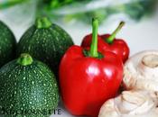 Courgettes, poivrons champignons farcis {menus Zone}