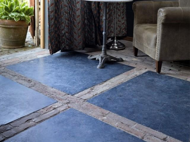 En mood sous le charme de la pierre bleue d couvrir for Calepinage carrelage sol