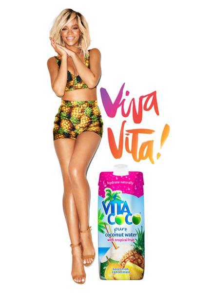 Rihanna n'est pas une conasse, c'est une ananas (pub Vita Coco)