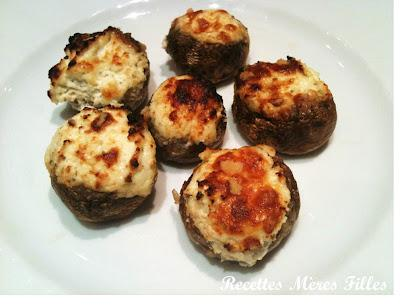 la recette ap ritif champignons farcis gratin s paperblog. Black Bedroom Furniture Sets. Home Design Ideas