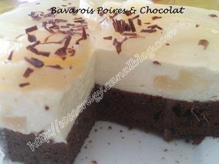 Bavarois poires chocolat d couvrir - Peut on congeler des poires ...