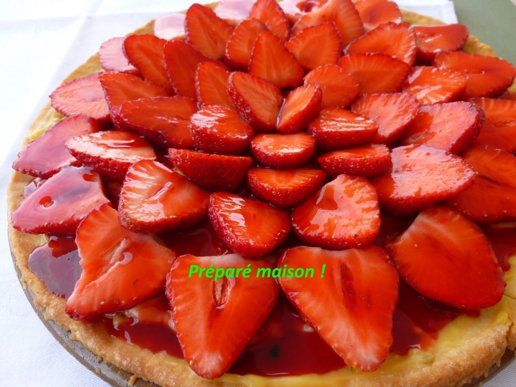 Tarte sablée fraises et citron vert